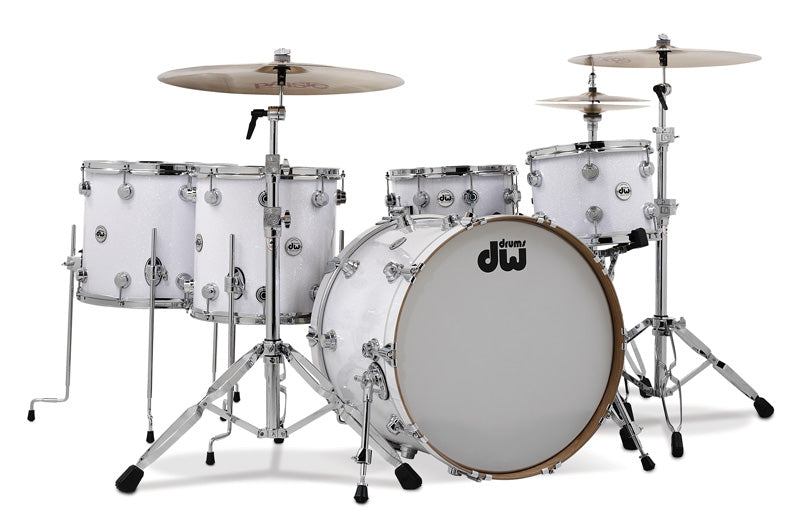 DW Collectors Drum Set Rental - White Glass