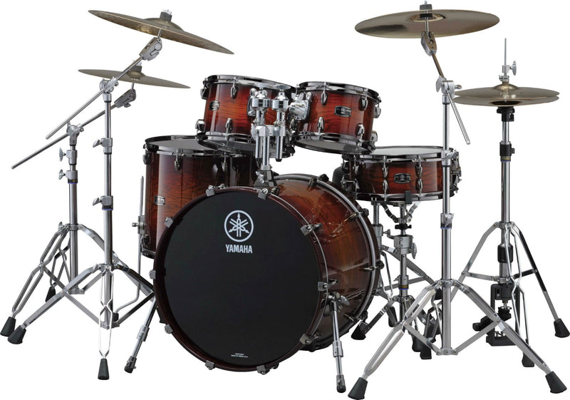 Yamaha Live Oak Drum Set Rental - Amber Shadow Sunburst