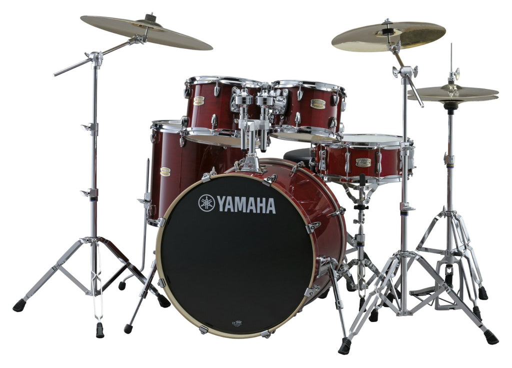 Yamaha Stage Custom Drum Set Rental - Cranberry Red