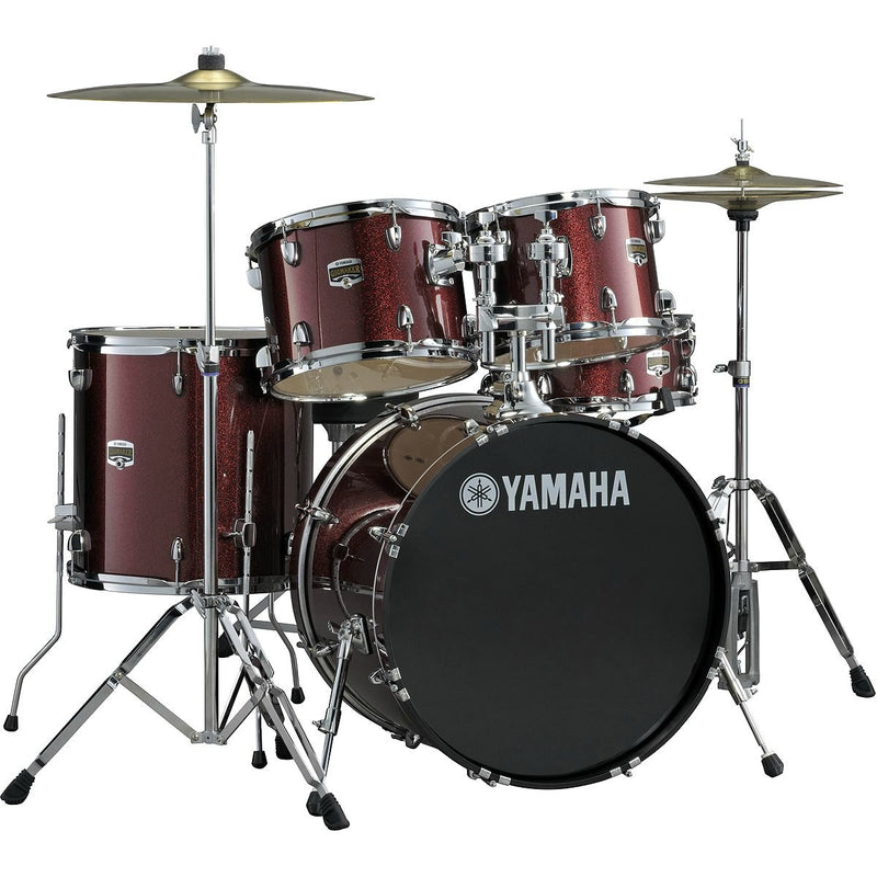 Yamaha Gig Maker Drum Set Rental - Burgundy Glitter
