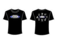 CSW School Shirt - 00 - Black - Blue Logo