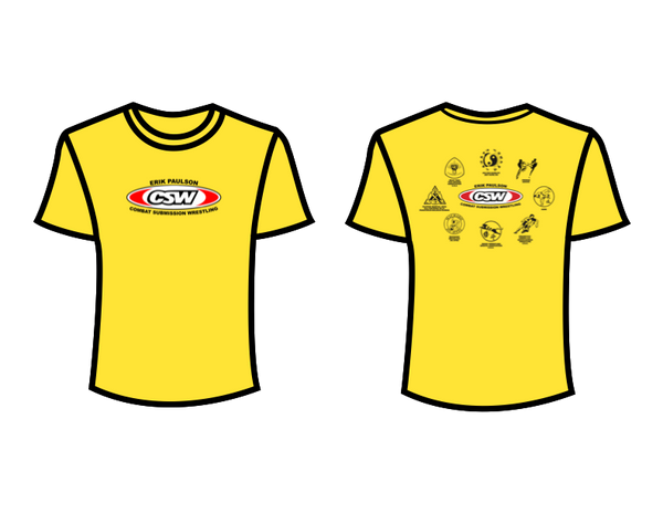 CSW School Shirt - 02 - Yellow - Red Logo