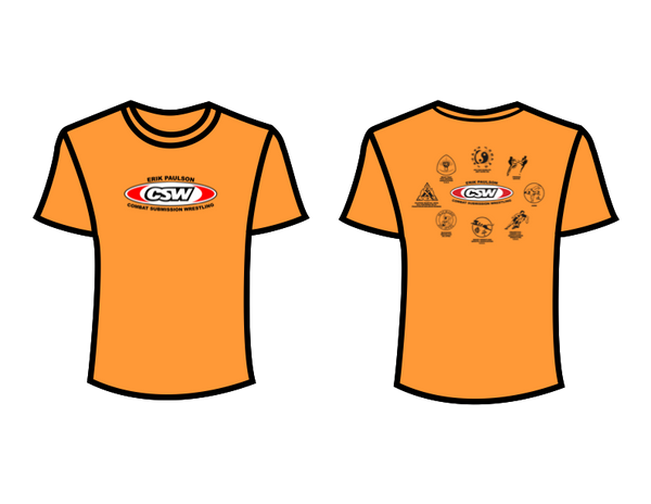 CSW School Shirt - 03 - Orange - Red Logo