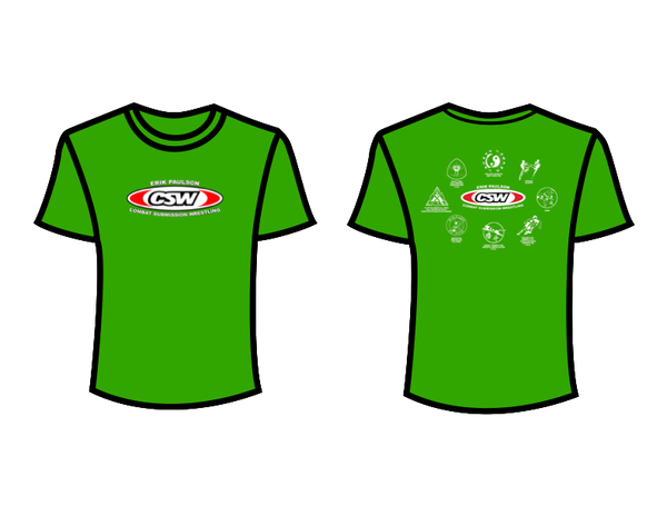 CSW School Shirt - 04 - Green - Red Logo