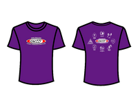 CSW School Shirt - 06 - Purple - Red Logo