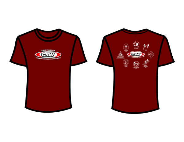 CSW School Shirt - 07 - Maroon - Red Logo