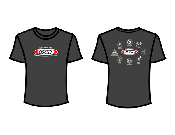 CSW School Shirt - 08 - Charcoal - Red Logo