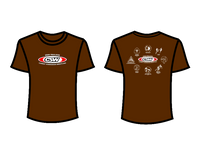CSW School Shirt - 09 - Brown - Red Logo