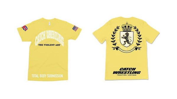 Catch Wrestling T-Shirt - Yellow