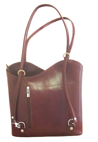Classic Leather Handbag - Brown
