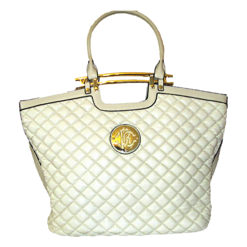 Quilted Tote Bag - Beige