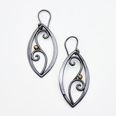 Blackened Filigree earrings