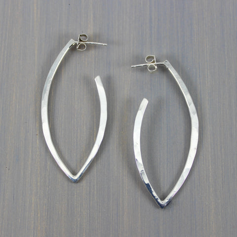 Leaf Hoops Large