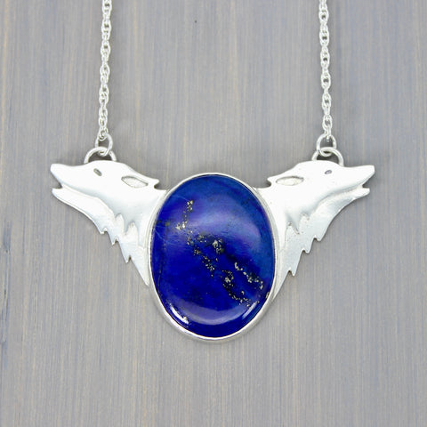 Wolfheart in Lapis Necklace