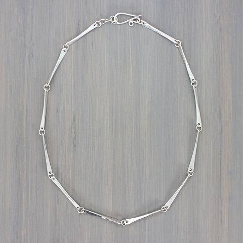 Hammered Bar Link Necklace