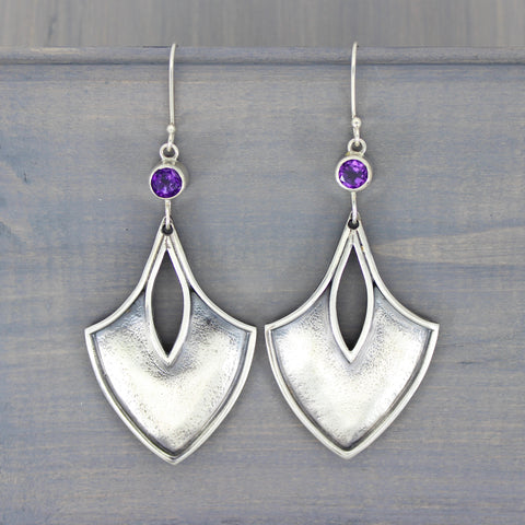 Dragonscale Earrings with Amethyst