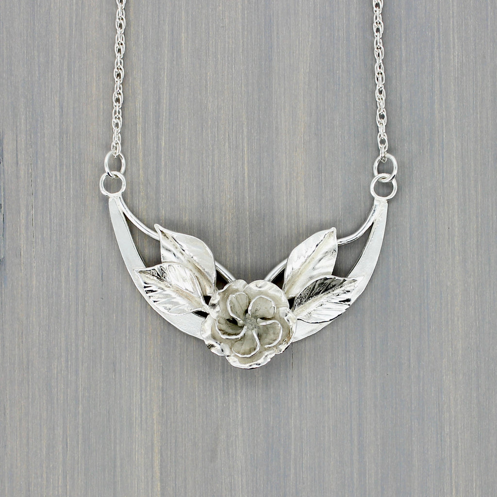 Winged Rose Necklace