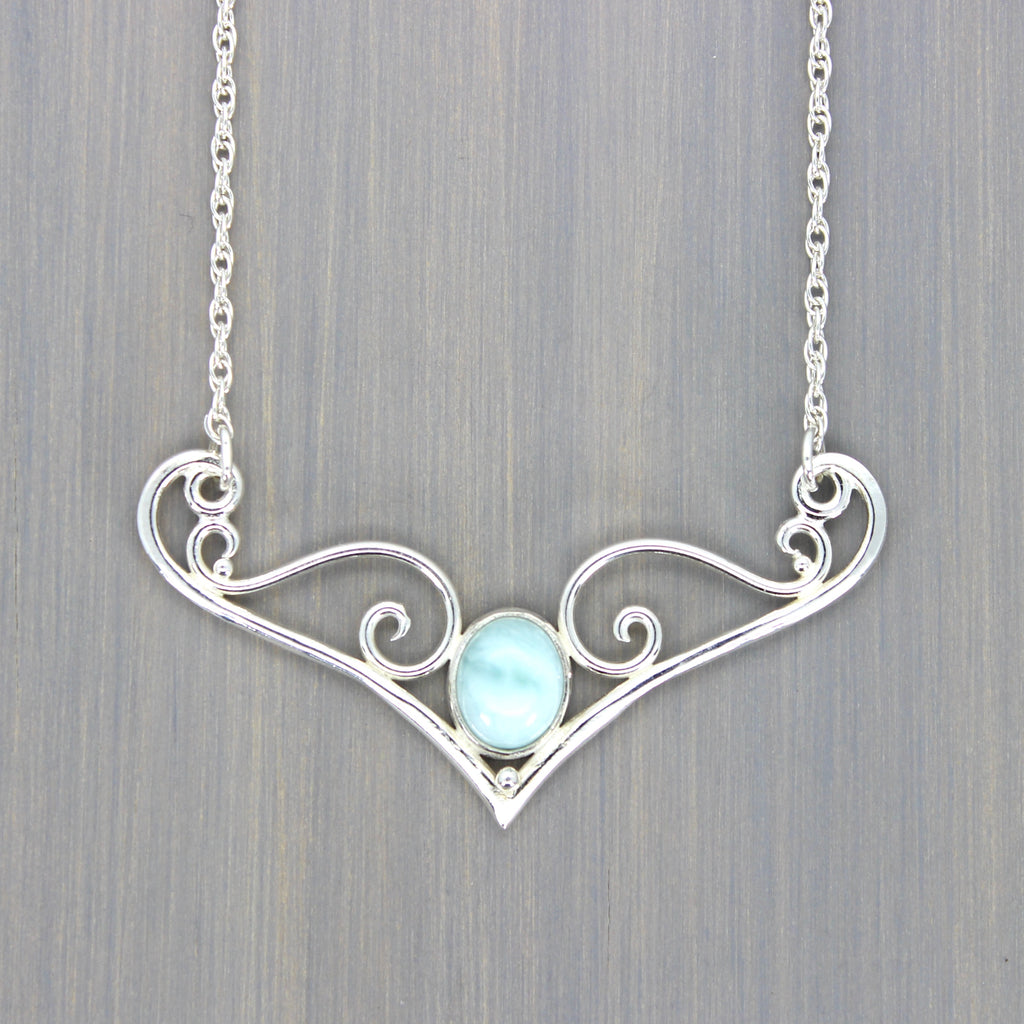 Larimar Dove Necklace