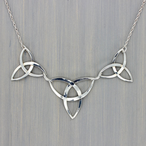 Forged Triquetra Link Necklace