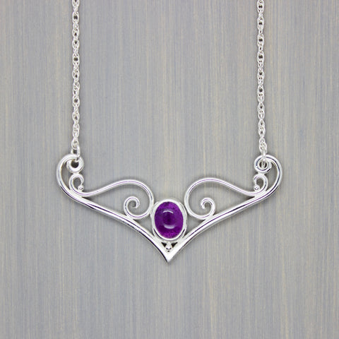 Amethyst Dove Necklace