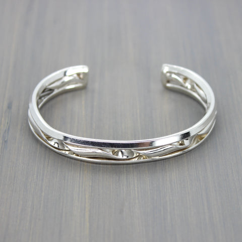 Layered Twist Cuff Bracelet