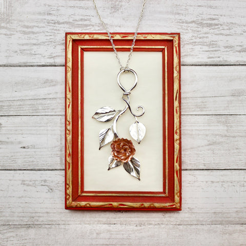 Flowering Rose Pendant