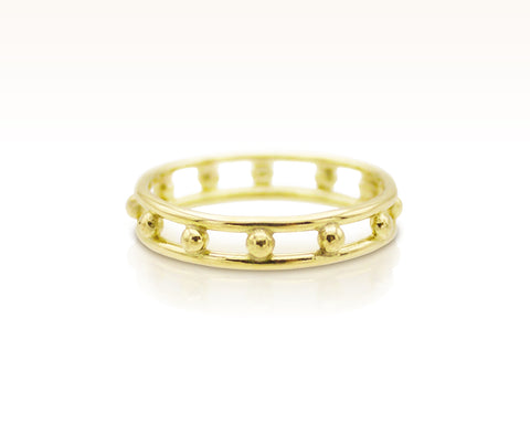 French Knot Ring in 18K Gold: Size 7.5
