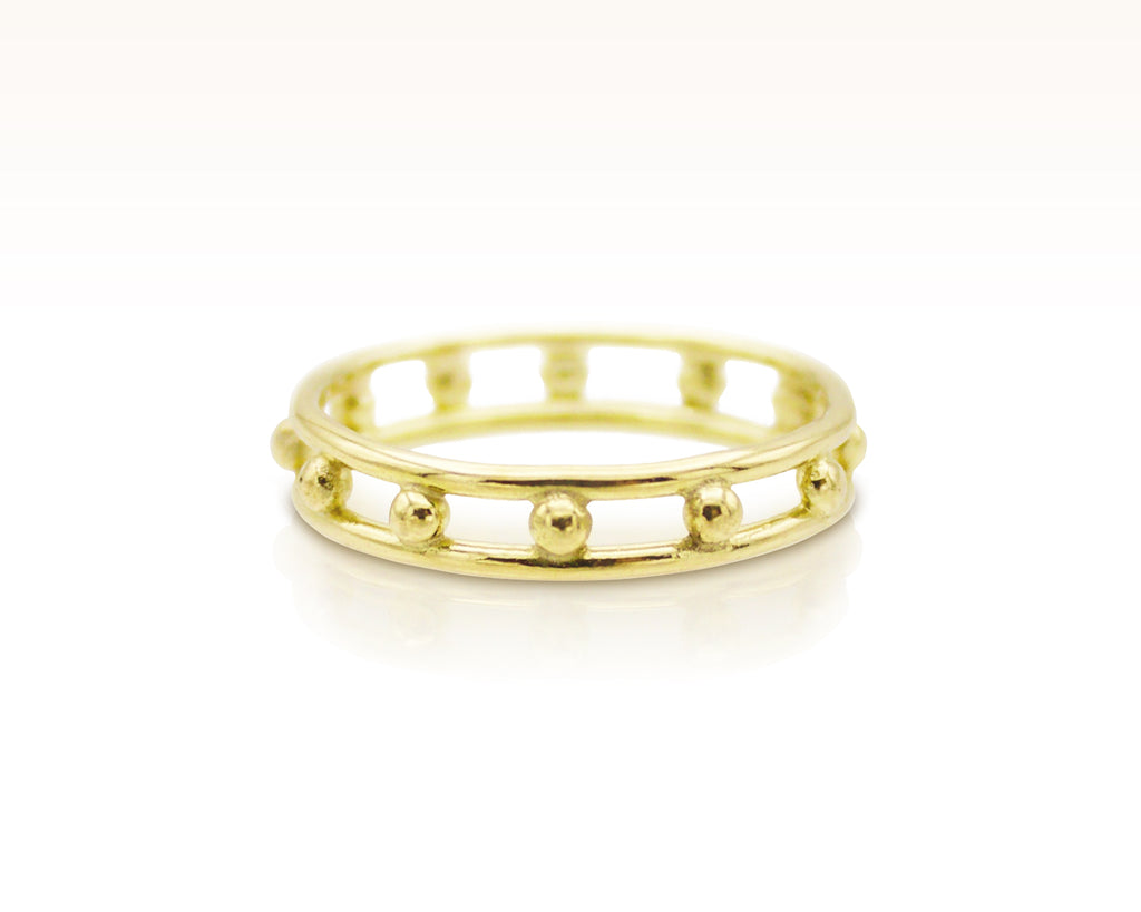 French Knot Ring in 18K Gold