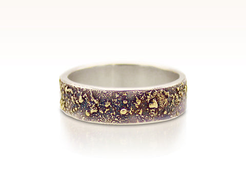 Moondust in Argentium with 18K Gold