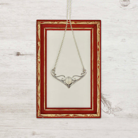 Moonstone Dove Necklace