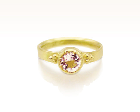 Blush Pink Morganite Solitaire: Size 5