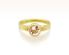 Morganite & 18K Fairmined Gold Solitaire