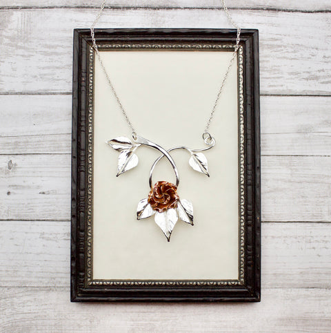 Rose & Vine Bib Necklace