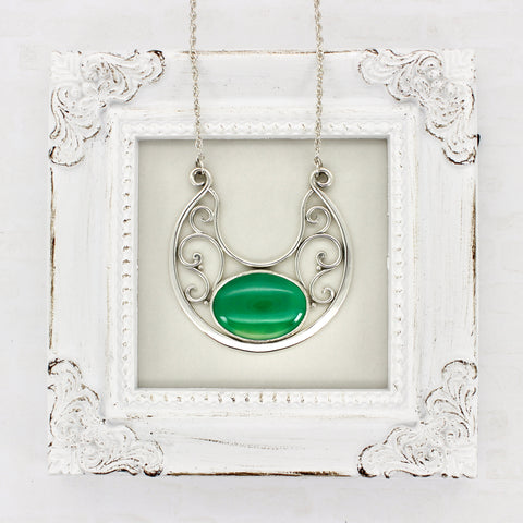Brigid's Mantle Green Onyx Lunula