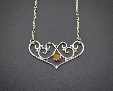 Heart & Soul Fire Opal Necklace