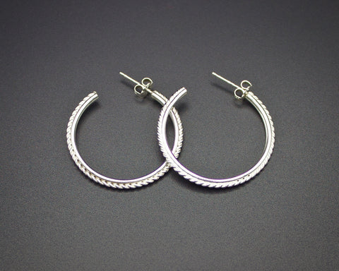Grecian Twist Hoops