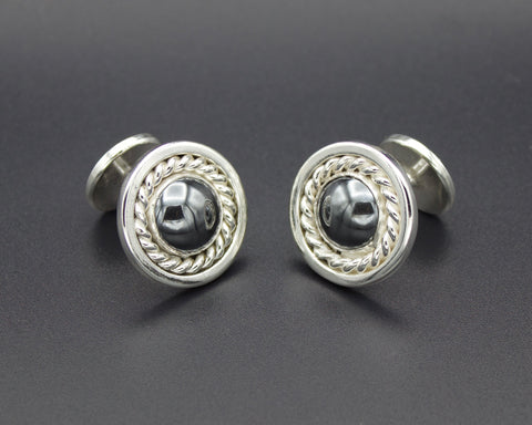Hematite Mirror Cuff Links