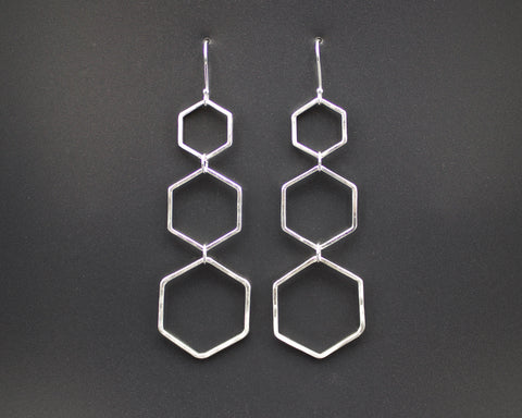 Triple Honeycomb Earrings