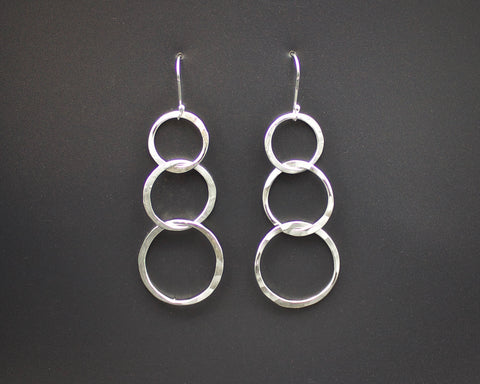 Triple Loop Link Earrings