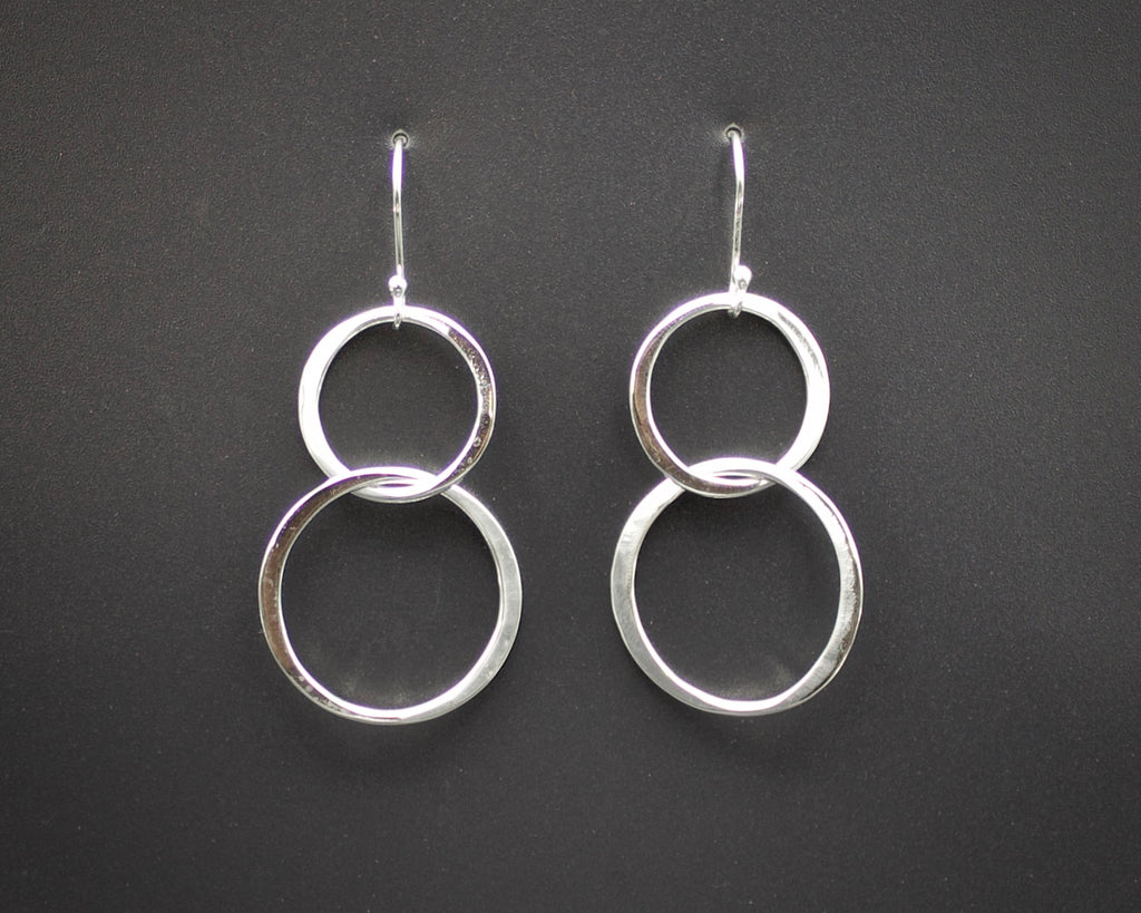 Double Loop Link Earrings