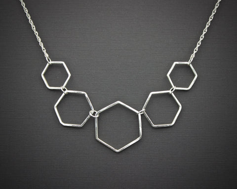 Honeycomb Link Necklace