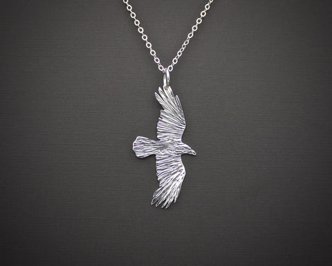 Raven in Flight Pendant