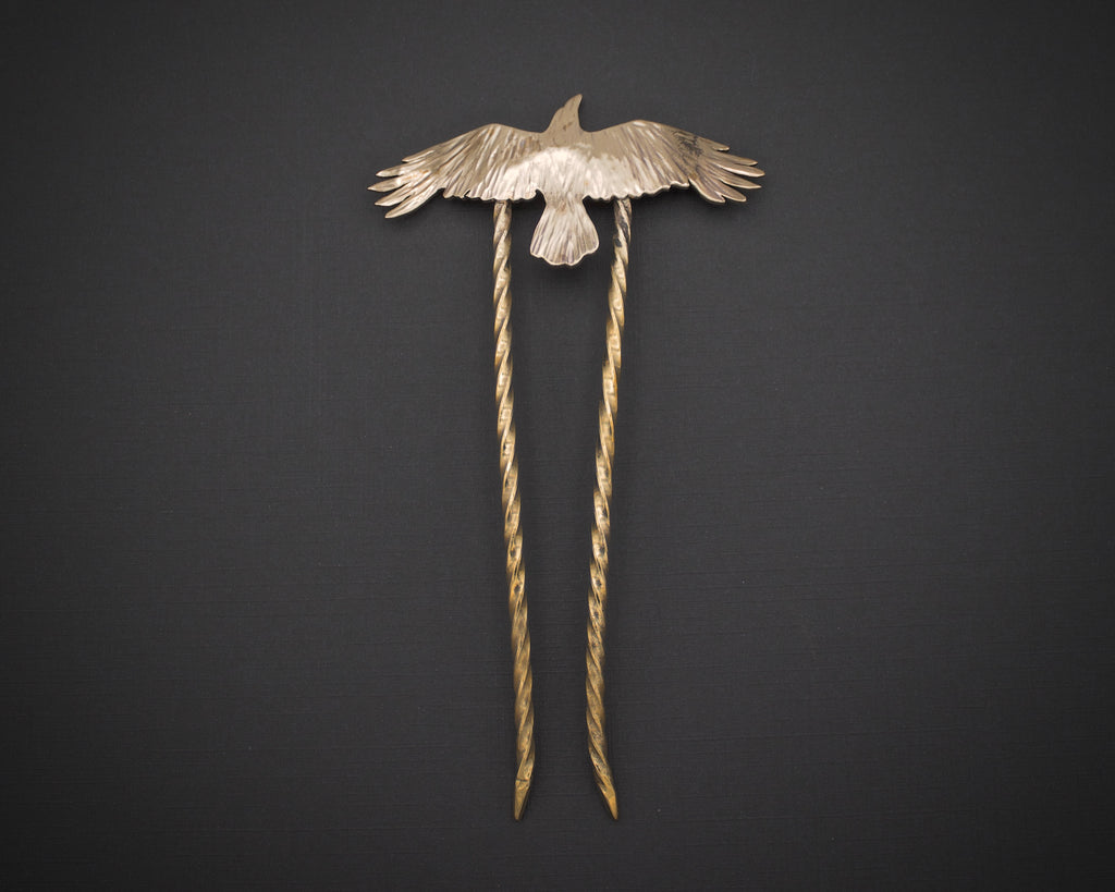Raven Hair stick in Bronze