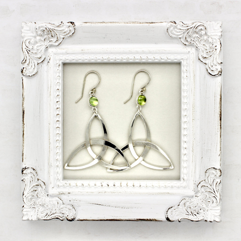 Peridot Triquetra Earrings