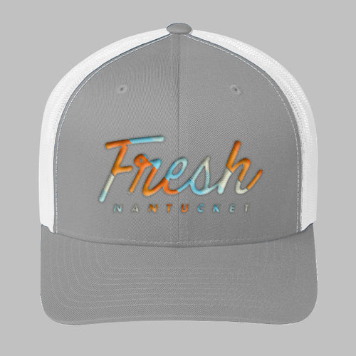 Grey with White Trucker Hat, Multi 1