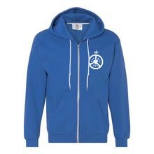 Men's Zip- Up Hoodie - Blue
