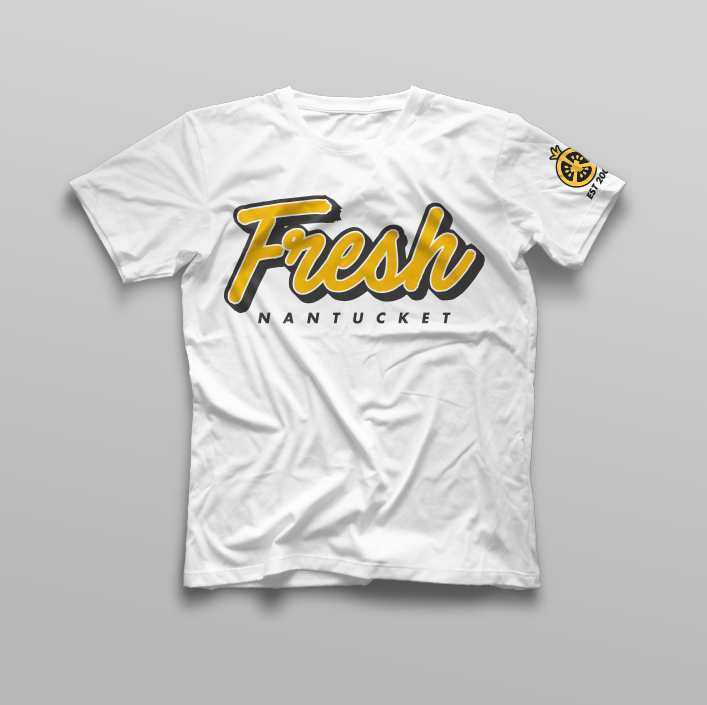 White / Yellow Fresh Tee
