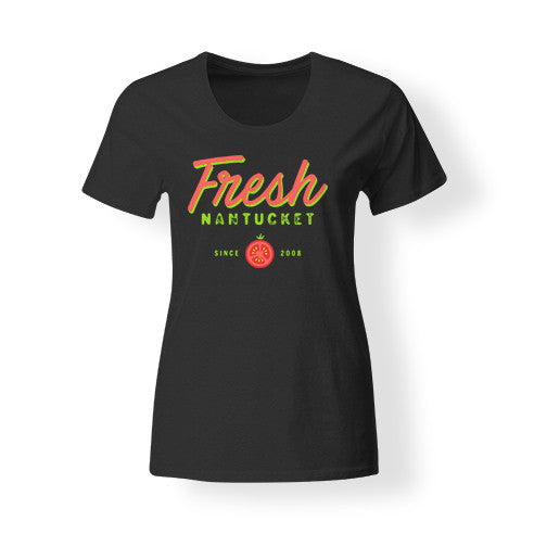 Women's Black Fresh T