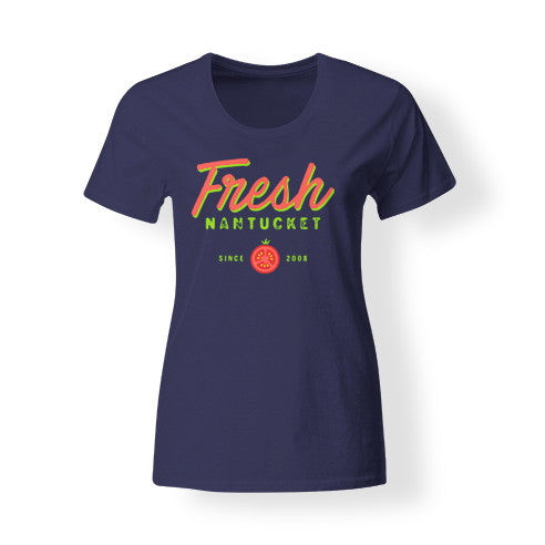 Women's Navy Fresh T