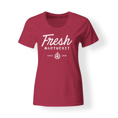 Women's Red Fresh T